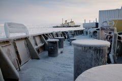 Piezas de la nave cubierta con hielo Fotos de archivo