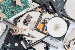 Piezas de la unidad de disco duro Imagen de archivo libre de regalías
