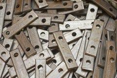 Piezas de metal Foto de archivo libre de regalías