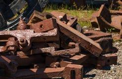 Piezas de metal del tren Imagen de archivo libre de regalías