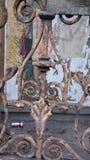 Piezas de una vieja puerta Foto de archivo