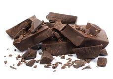 Piezas del chocolate foto de archivo libre de regalías