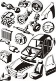 Piezas del coche libre illustration