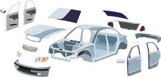 Piezas del coche stock de ilustración