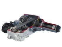Piezas del coche: Caso de transferencia - rotación eléctrica Fotos de archivo