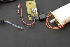 Piezas del dispositivo eléctrico Fotografía de archivo