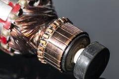 Piezas del motor eléctrico Imágenes de archivo libres de regalías