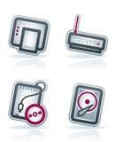 Piezas del ordenador Imagen de archivo libre de regalías