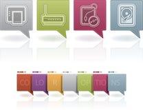 Piezas del ordenador Imagen de archivo