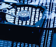 Piezas del ordenador del almacenamiento de datos Imágenes de archivo libres de regalías