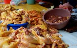 Piezas del pollo Foto de archivo libre de regalías