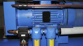 Piezas industriales de la máquina del compresor Imagen de archivo libre de regalías