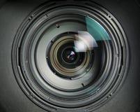 Piezas internas del detalle video de la lente Imágenes de archivo libres de regalías