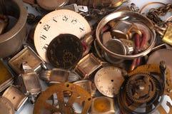 Piezas oxidadas del reloj Imágenes de archivo libres de regalías