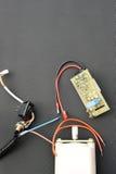 Piezas para el dispositivo eléctrico Foto de archivo