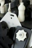 Piezas plásticas de la máquina Imágenes de archivo libres de regalías