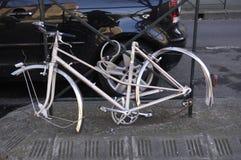 Piezas robadas de la bicicleta Imágenes de archivo libres de regalías