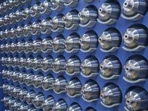 Piezas trabajadas a máquina acero Foto de archivo libre de regalías