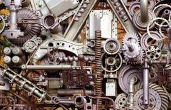 Piezas y pedazos de la máquina Foto de archivo