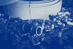 Piezas y tubos imagen de archivo