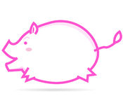Pig. The cartoon of little pig with white background Royalty Free Stock Image