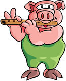 Pig. Color cartoon artwork line-art Royalty Free Stock Photography
