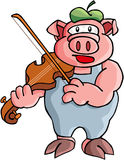 Pig. Color cartoon artwork line-art Royalty Free Stock Image