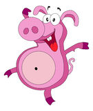 Pig. Funny pig with happy expression in his face royalty free illustration