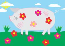 Pig. An a vector illustration of Pig . Files included: Illustrator 8 EPS  and JPG Stock Illustration