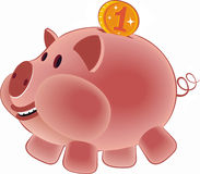 Pig. Moneybox it is isolated on a white background. Vector image stock illustration