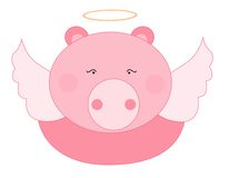 Pig angel Stock Photography