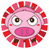 Pig angry Stock Images