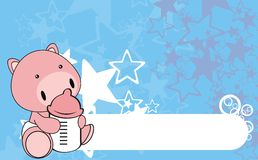 Pig baby cartoon background0 Royalty Free Stock Images