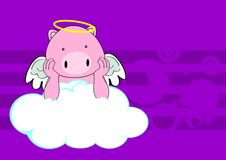 Pig baby cute angel cartoon background Royalty Free Stock Images