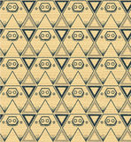 Pig background pattern triangle yellow Stock Images
