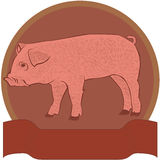 Pig badge royalty free stock photography
