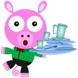 Pig balance Stock Photos