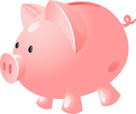 Pig bank. Isolated on white, vector, eps 8 Stock Photo
