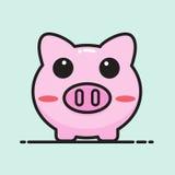 Pig bank cartoon Royalty Free Stock Photos