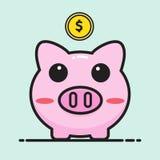 Pig bank cartoon Royalty Free Stock Photography