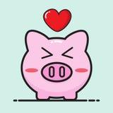 Pig bank cartoon Stock Photography