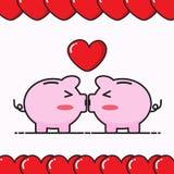 Pig bank cartoon Stock Photo