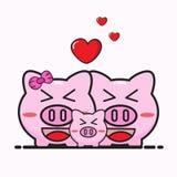 Pig bank cartoon Stock Images