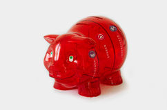 Pig bank isolated on white Stock Photography