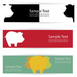 Pig banners Stock Photography