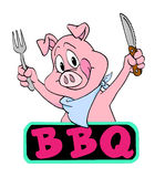 Pig Barbeque stock illustration
