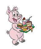 Pig Being A Pig Royalty Free Stock Image