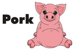Pig and black word Royalty Free Stock Photography