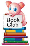 Pig and books Stock Photo