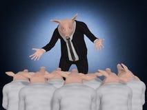 Pig Boss speaking Royalty Free Stock Photos